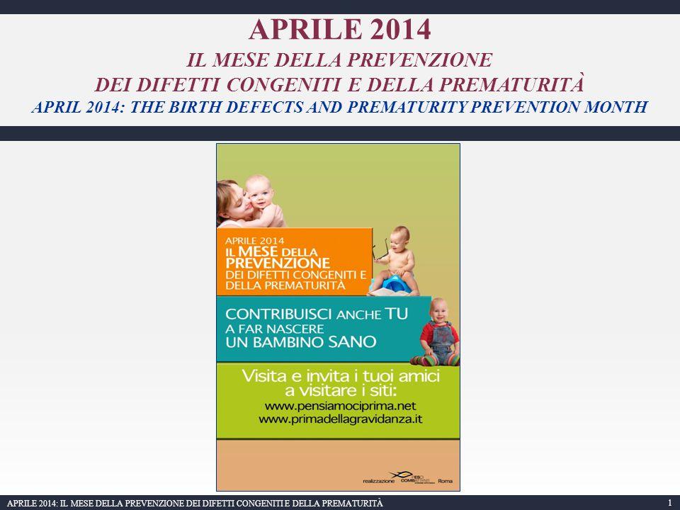 APRILE 2014 IL MESE DELLA PREVENZIONE