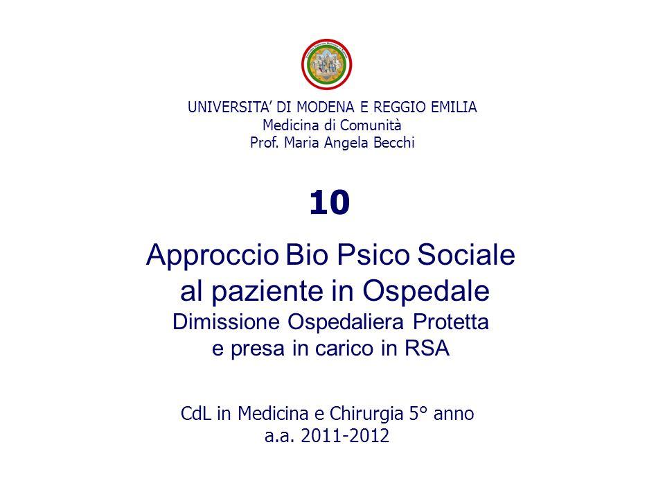 10 Approccio Bio Psico Sociale