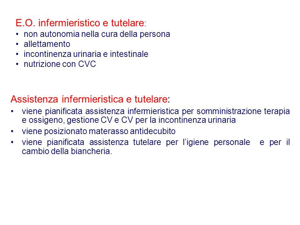 E.O. infermieristico e tutelare: