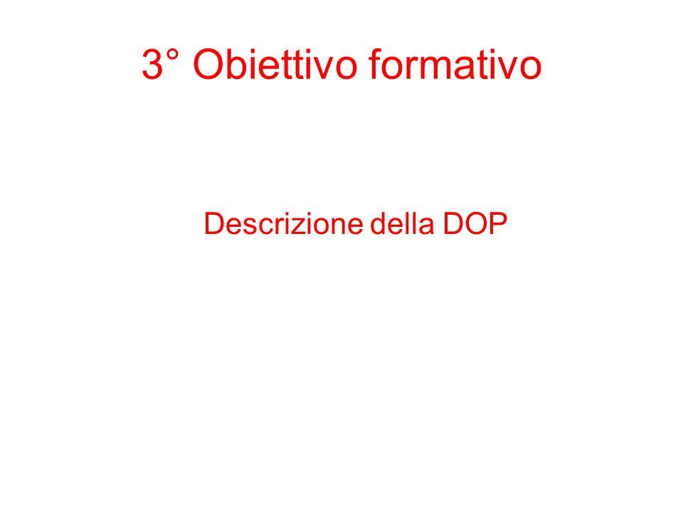 3° Obiettivo formativo Descrizione della DOP