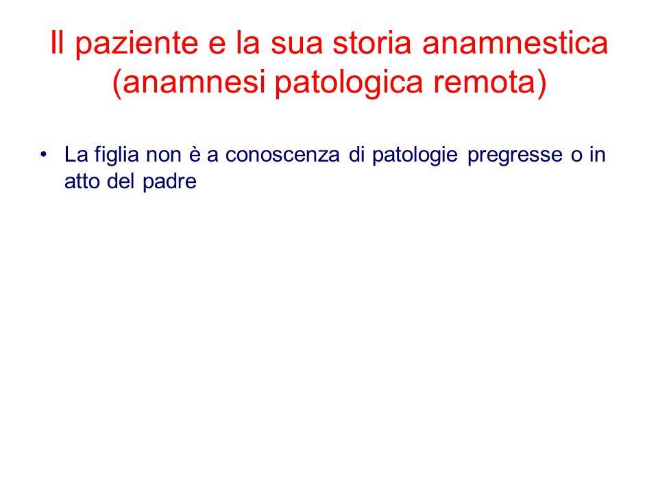 Il paziente e la sua storia anamnestica (anamnesi patologica remota)