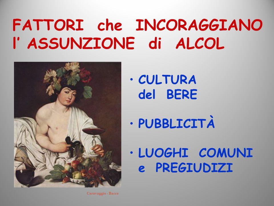 FATTORI che INCORAGGIANO l' ASSUNZIONE di ALCOL