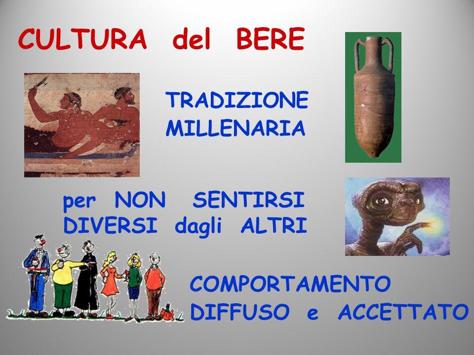 CULTURA del BERE TRADIZIONE MILLENARIA