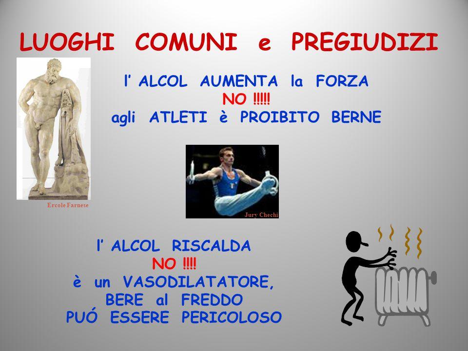 l' ALCOL AUMENTA la FORZA NO !!!!! agli ATLETI è PROIBITO BERNE