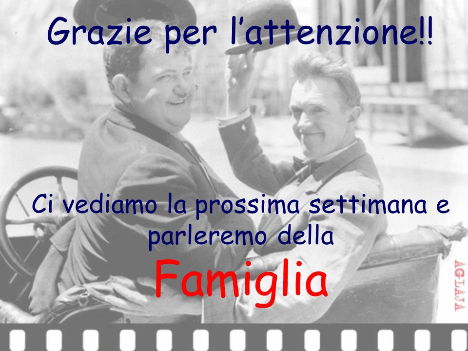 Famiglia Grazie per l'attenzione!!