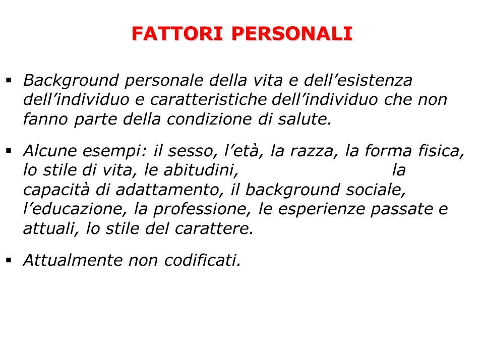 FATTORI PERSONALI