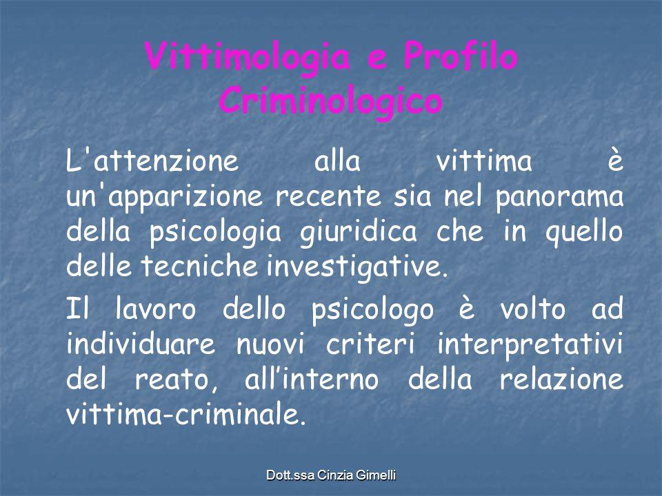 Vittimologia e Profilo Criminologico