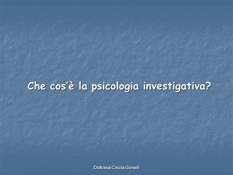 Che cos'è la psicologia investigativa
