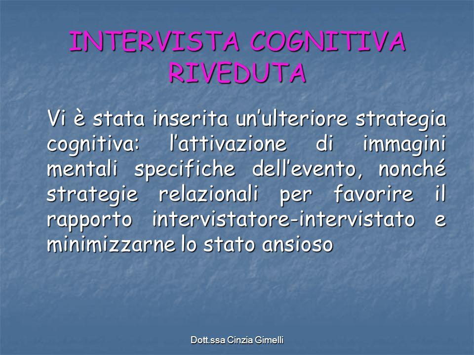 INTERVISTA COGNITIVA RIVEDUTA