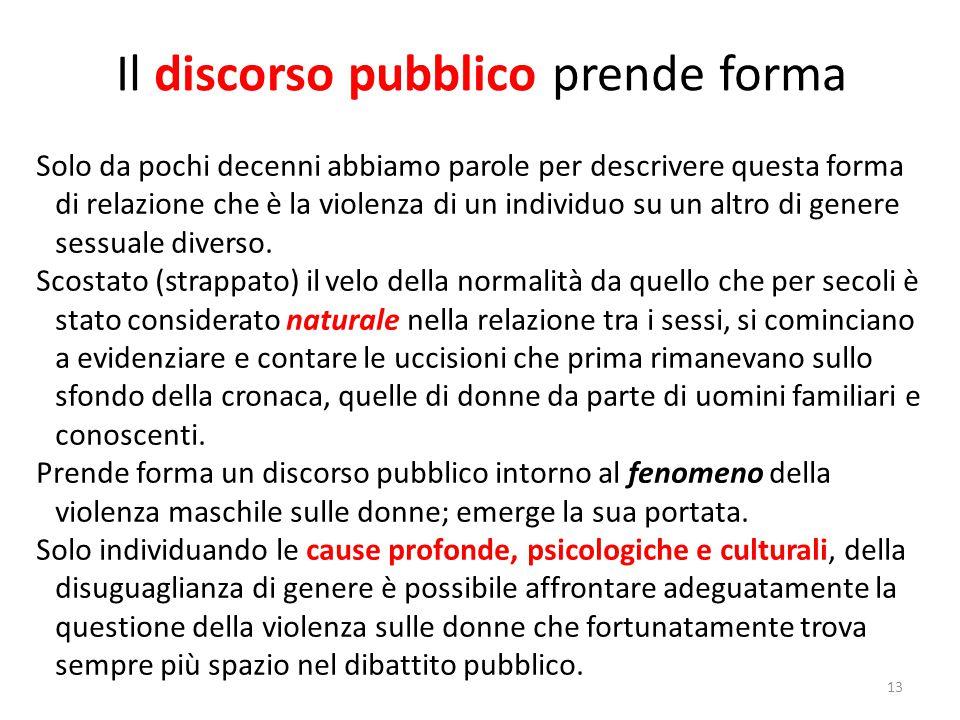 Il discorso pubblico prende forma