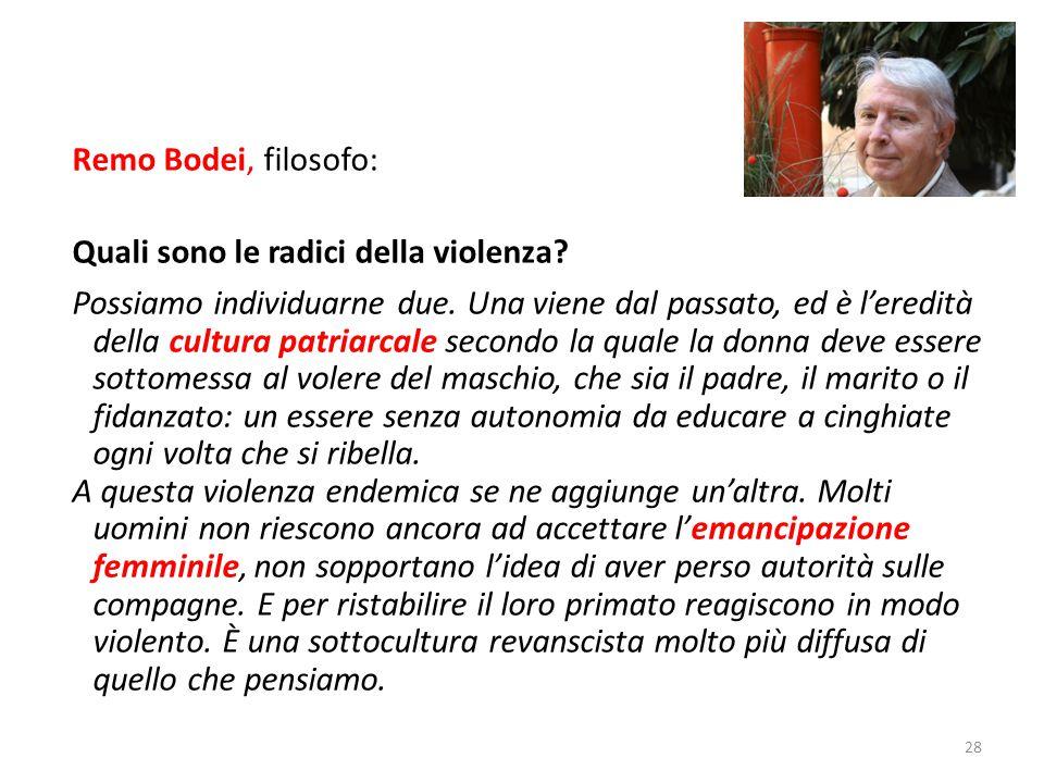 Remo Bodei, filosofo: Quali sono le radici della violenza