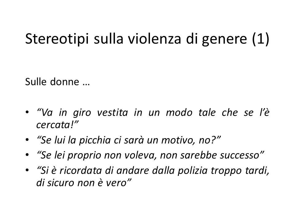 Stereotipi sulla violenza di genere (1)