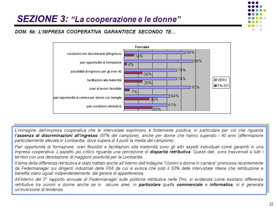 SEZIONE 3: La cooperazione e le donne