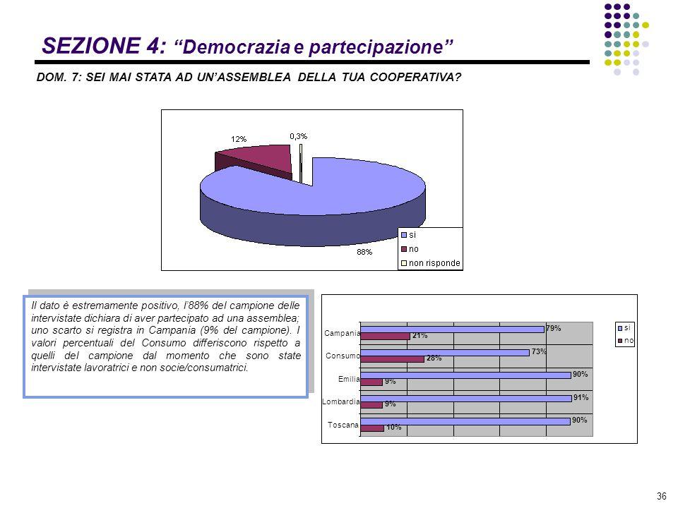 SEZIONE 4: Democrazia e partecipazione