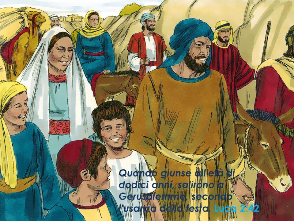 Quando giunse all età di dodici anni, salirono a Gerusalemme, secondo l usanza della festa.