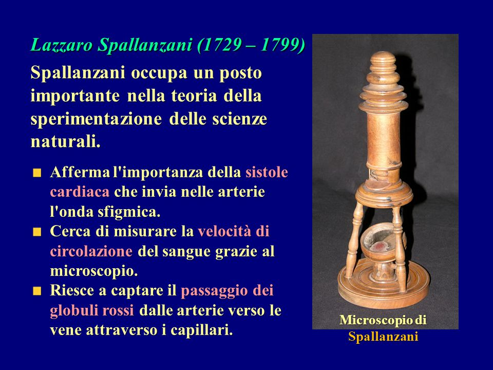 Lazzaro Spallanzani (1729 – 1799)