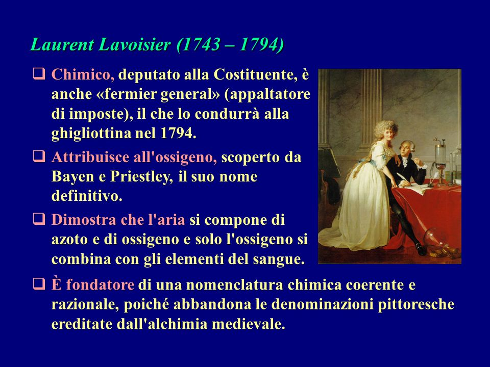 Laurent Lavoisier (1743 – 1794)