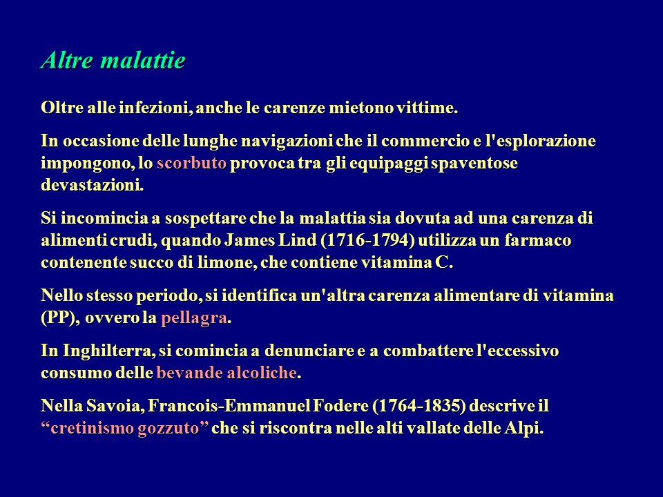 Altre malattie Oltre alle infezioni, anche le carenze mietono vittime.