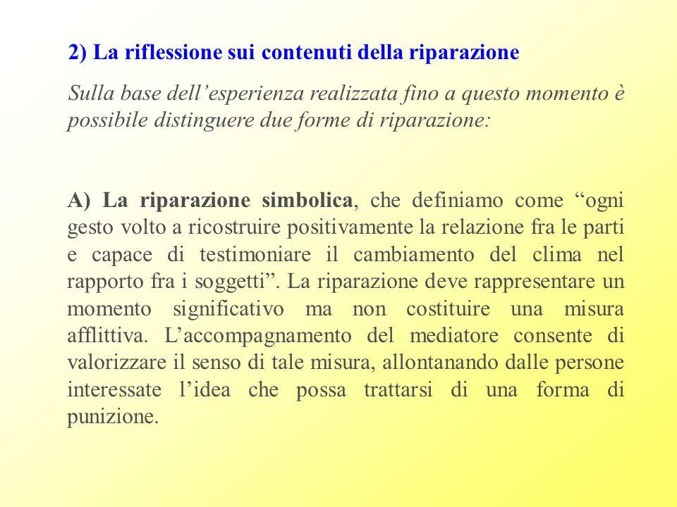 2) La riflessione sui contenuti della riparazione