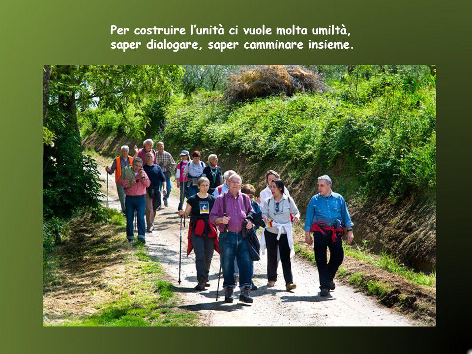 Per costruire l'unità ci vuole molta umiltà, saper dialogare, saper camminare insieme.