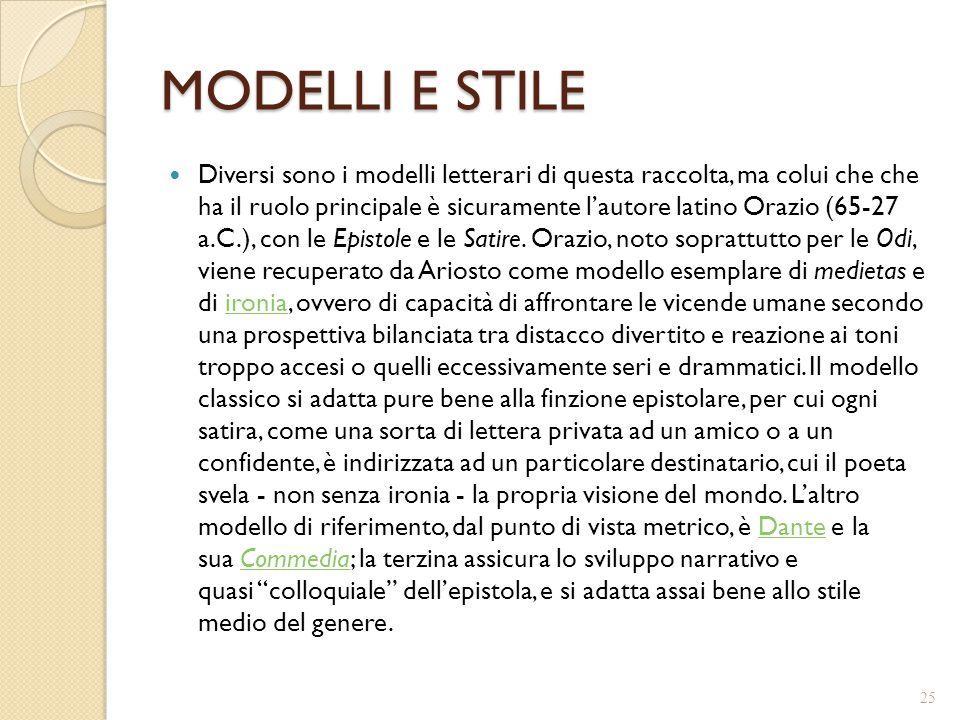 MODELLI E STILE