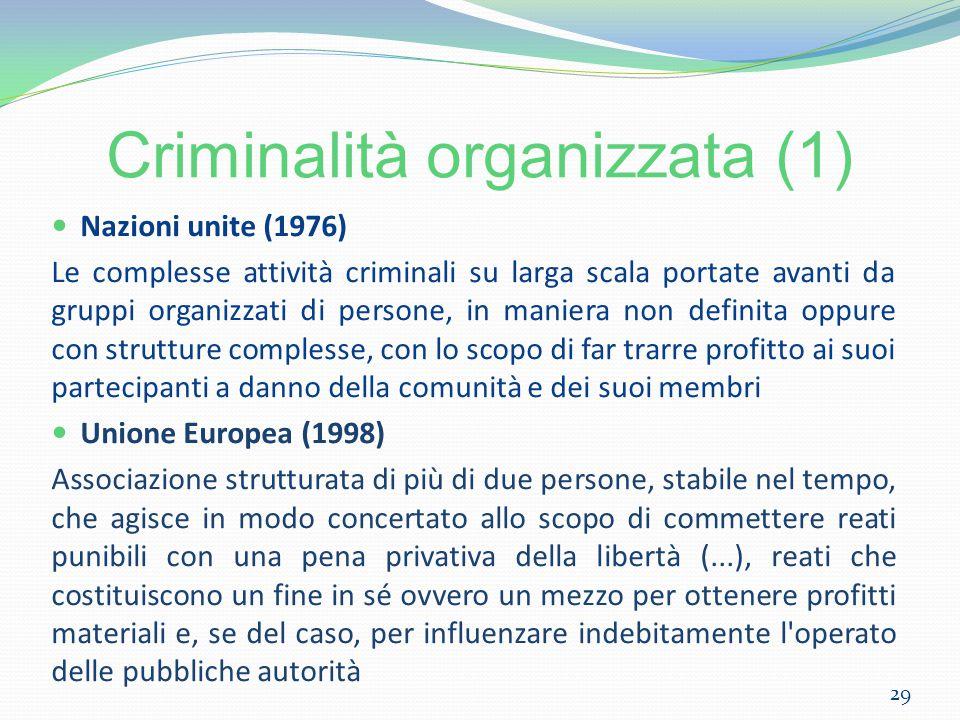 Criminalità organizzata (1)