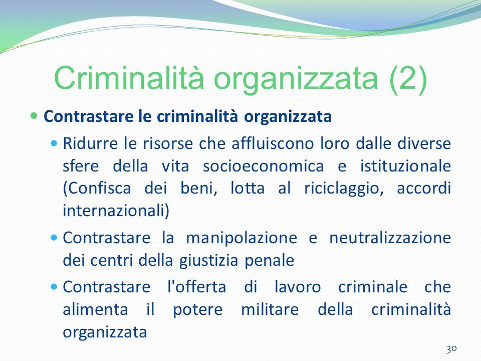 Criminalità organizzata (2)