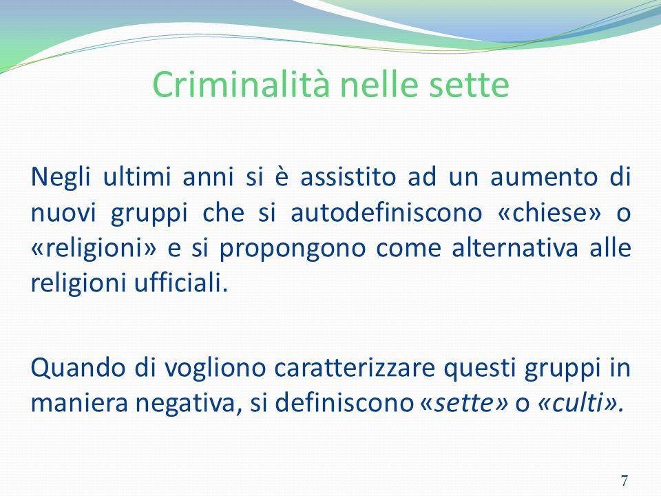 Criminalità nelle sette