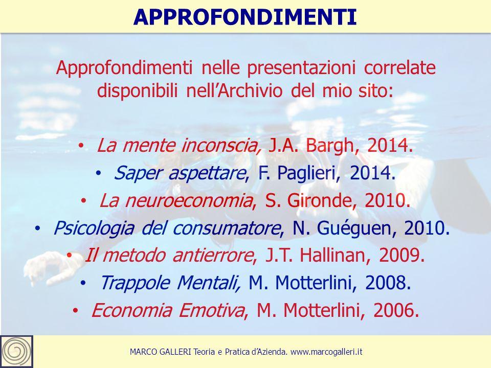 APPROFONDIMENTI Approfondimenti nelle presentazioni correlate disponibili nell'Archivio del mio sito: