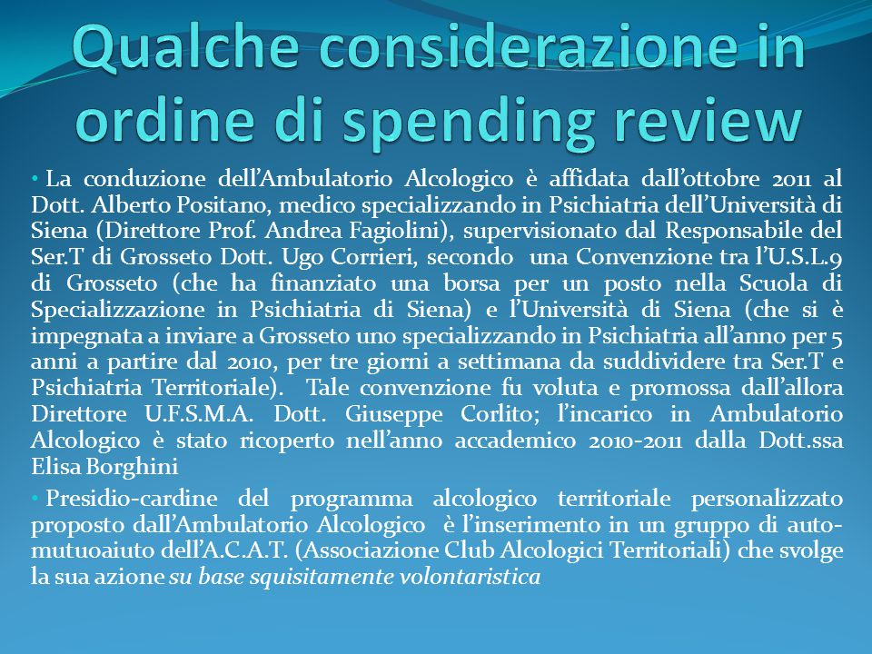 Qualche considerazione in ordine di spending review