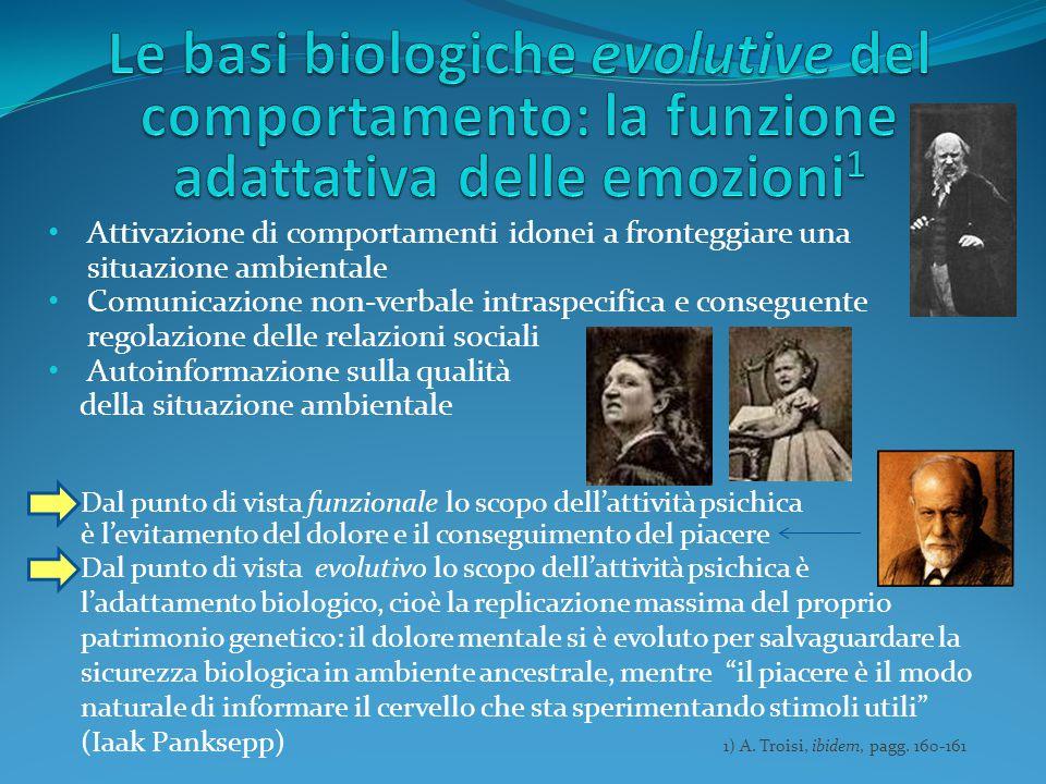 Le basi biologiche evolutive del comportamento: la funzione adattativa delle emozioni1
