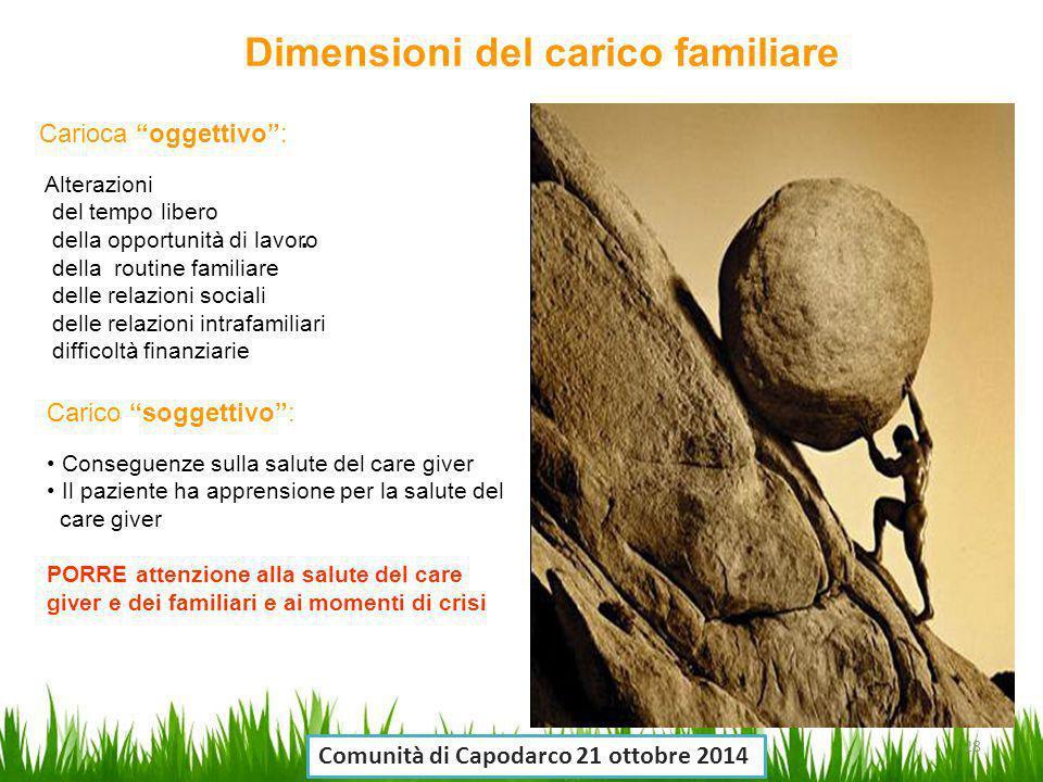Dimensioni del carico familiare