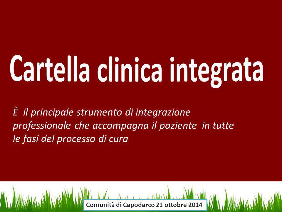 È il principale strumento di integrazione professionale che accompagna il paziente in tutte le fasi del processo di cura
