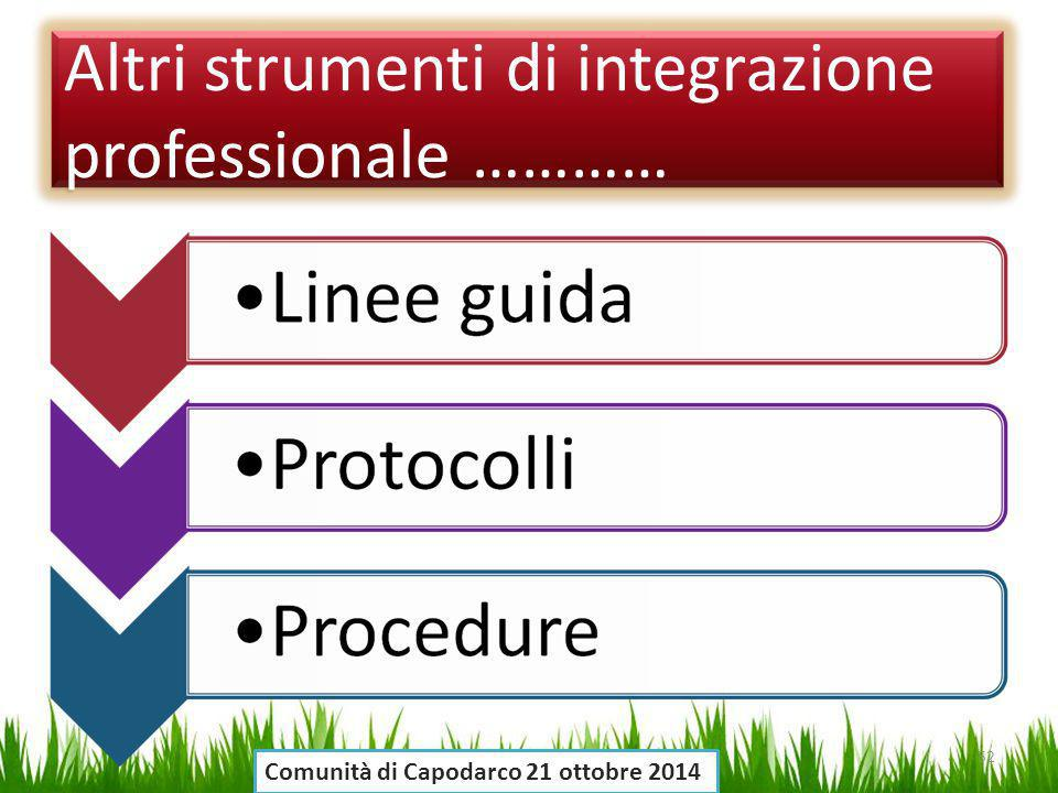 Altri strumenti di integrazione professionale …………