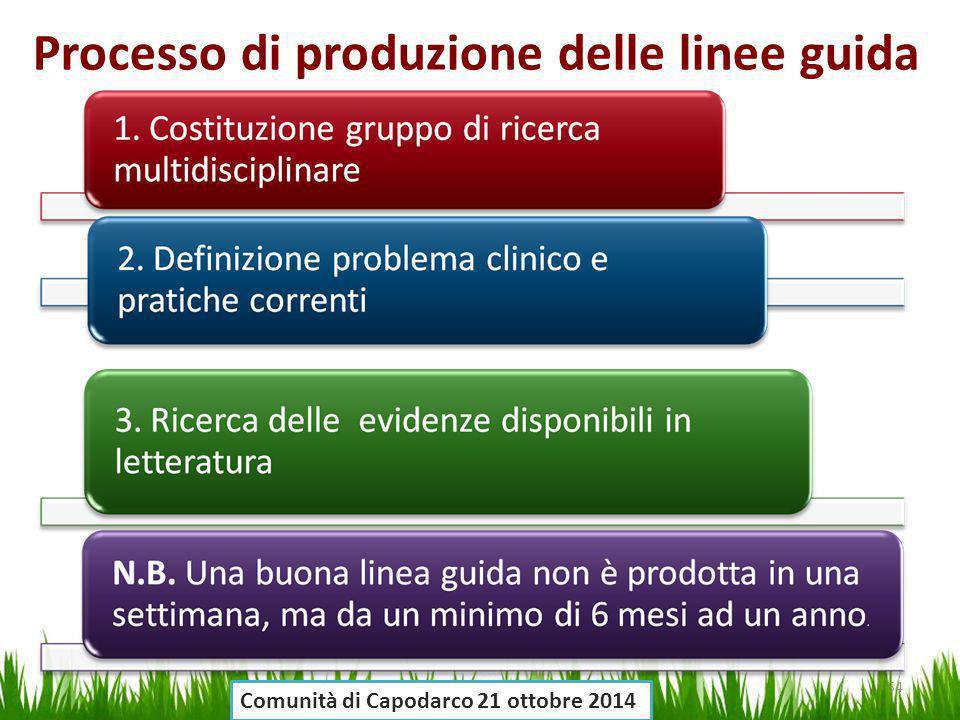 Processo di produzione delle linee guida