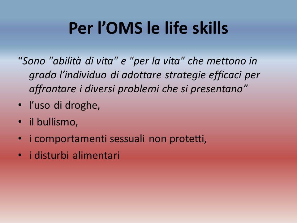 Per l'OMS le life skills