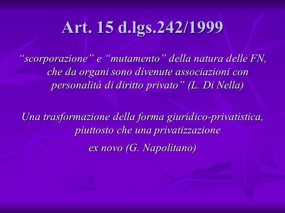 Art. 15 d.lgs.242/1999