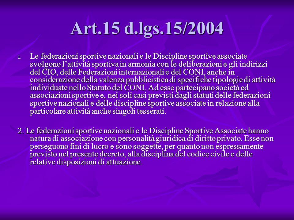 Art.15 d.lgs.15/2004