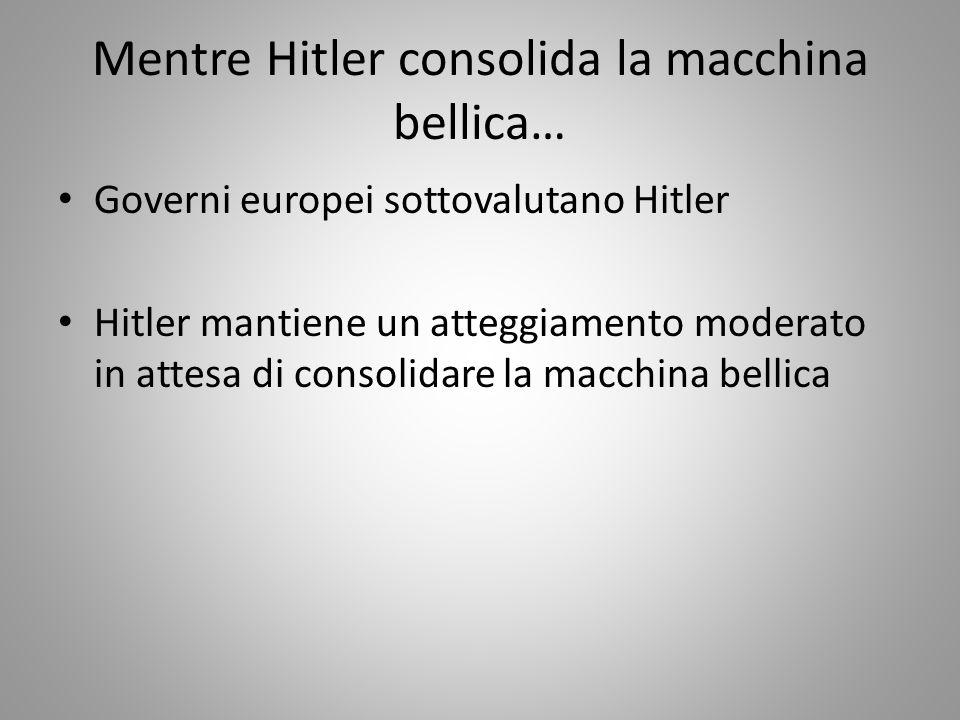 Mentre Hitler consolida la macchina bellica…