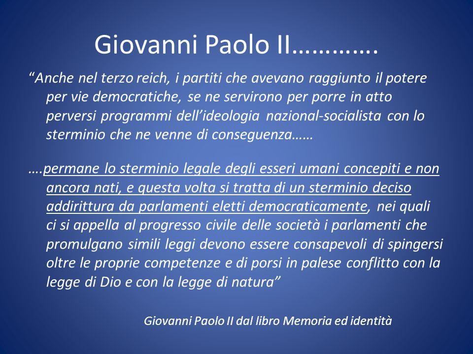 Giovanni Paolo II………….