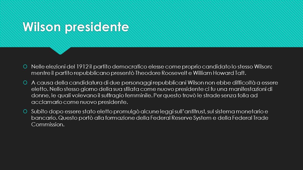 Wilson presidente