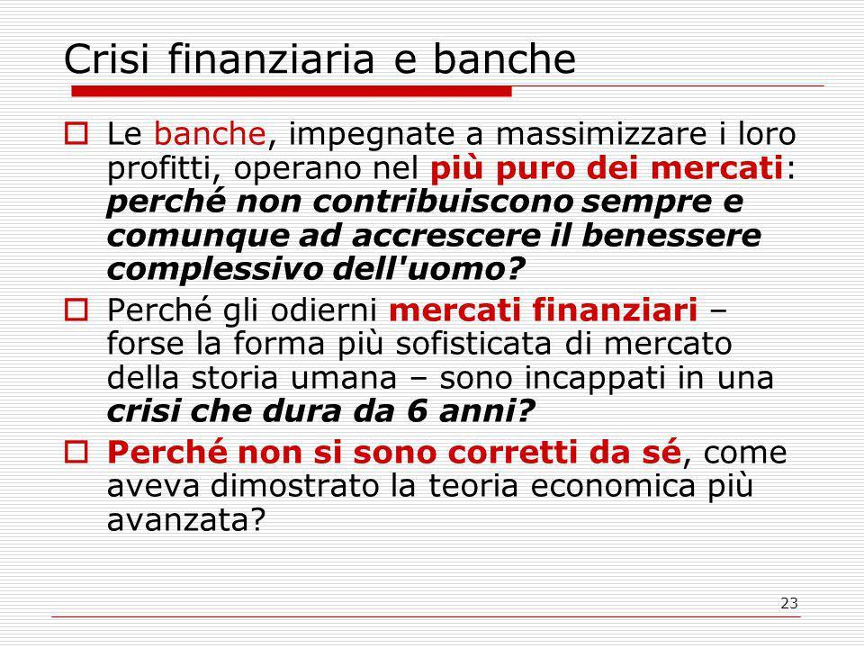 Crisi finanziaria e banche