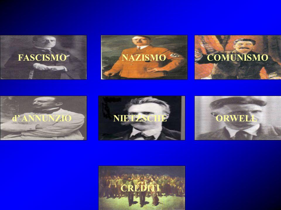 FASCISMO NAZISMO COMUNISMO d' ANNUNZIO NIETZSCHE ORWELL CREDITI