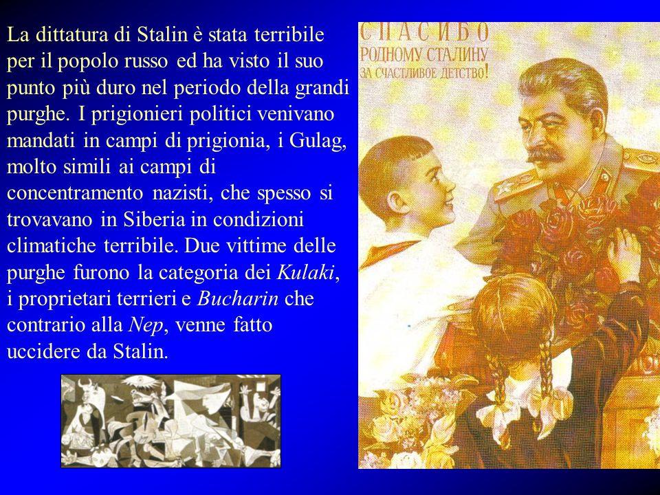 La dittatura di Stalin è stata terribile per il popolo russo ed ha visto il suo punto più duro nel periodo della grandi purghe.
