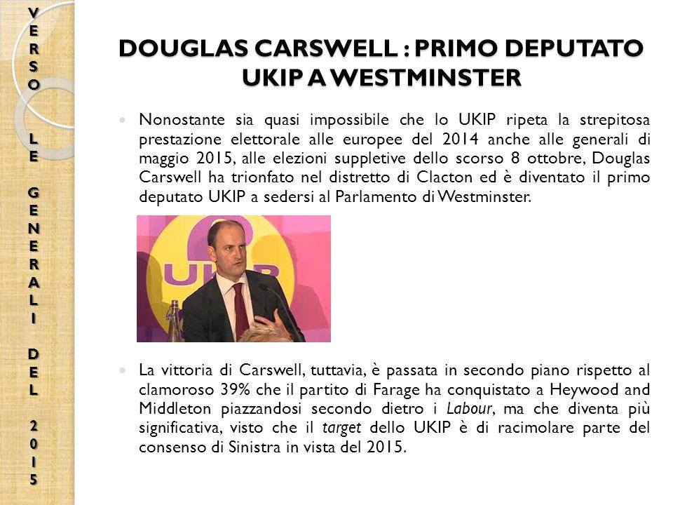 DOUGLAS CARSWELL : PRIMO DEPUTATO UKIP A WESTMINSTER