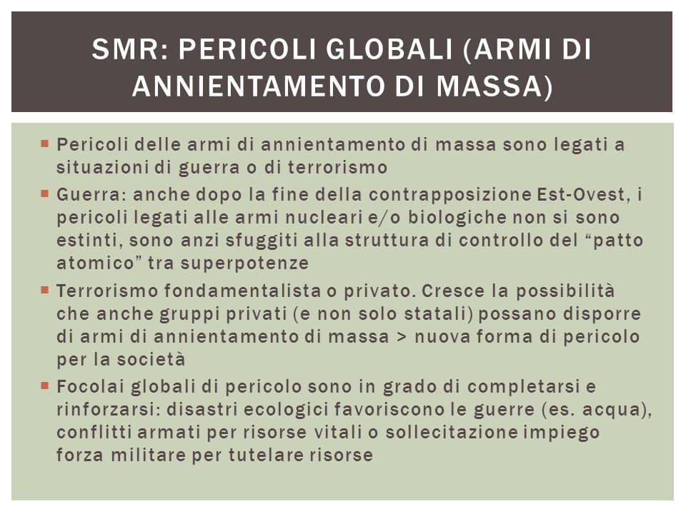 SMR: pericoli globali (armi di annientamento di massa)