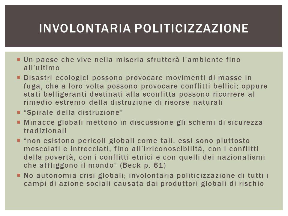 Involontaria politicizzazione