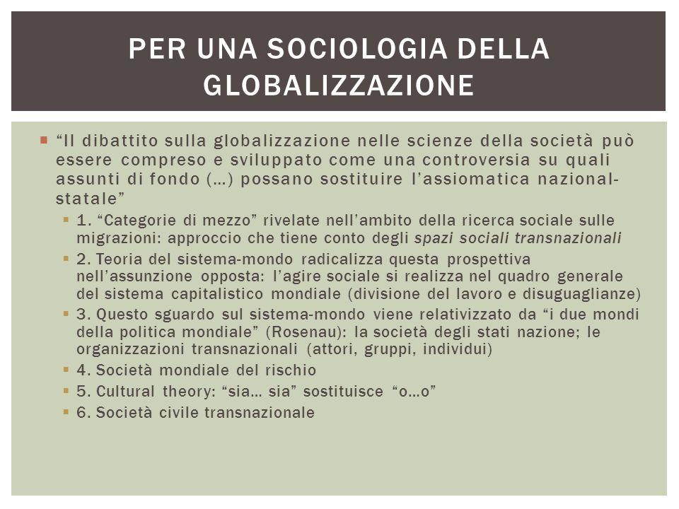 Per una sociologia della globalizzazione
