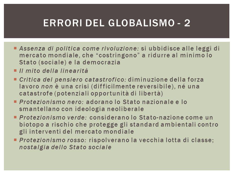 Errori del globalismo - 2
