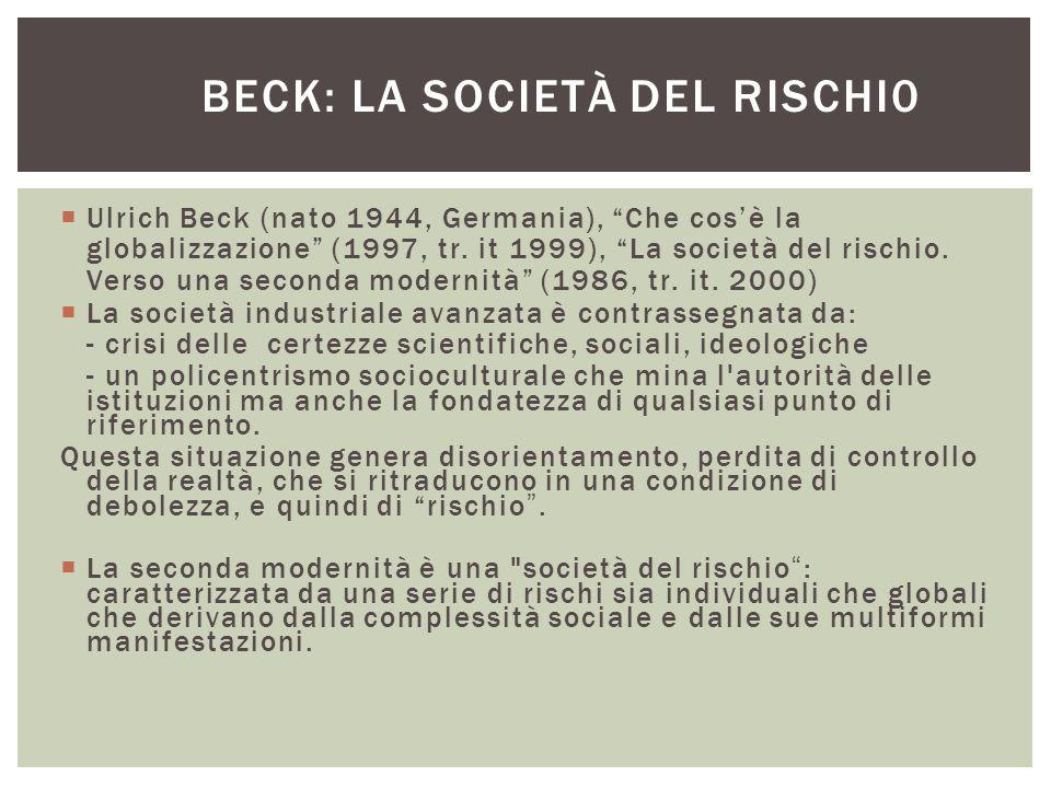 Beck: la società del rischi0